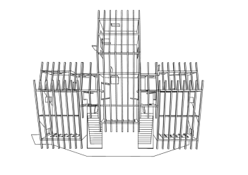 3D Plan 1 With rafters-01